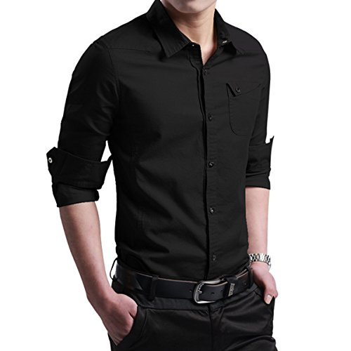 LOCALMODE-Mens-Military-Slim-Fit-Dress-Shirt-Casual-Long-Sleeve-Button-Down-Dress-Shirts