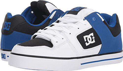Shoe Supreme Mens (DC Men's Pure Action Skate Shoe, White/Black/Blue, 11.5 Medium US)