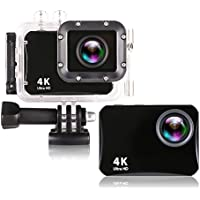 COOCHEER 4K WIFI Action Camera, Mini Camera 2.0 LCD Sony Sensor 150° Wide-Angle 60m Waterproof Sport Camera DV Camcorder with Accessories Kits for Bike Motorcycle Surfing Diving Swimming Skiing