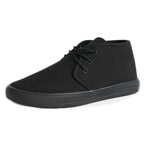 Image of TK's Cheryl Slip Resistant Black Sunbrella Mid Top Water Resistant Non Slip Waitress Shoes