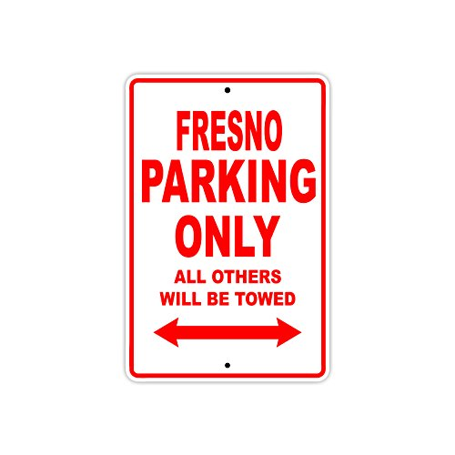 Fresno Parking Only All Others Will Be Towed Boat Ship Yacht Marina Lake Dock Yawl Craftmanship Metal Aluminum 12