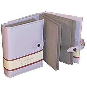 Little Book Of Earrings - Organizador de joyas para armario - Caja de joyería Pendientes - Lila