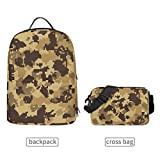 Mr.Brilliant Detachable Bookbag School Bag Strong Camouflage Army Gobi Business Travel 2 in 1 Backpack Military Enthusiast Pixel Style Outdoor 3-Day Bag for Women Men 2060759