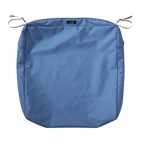 Classic Accessories Ravenna Rectangular Patio Seat Cushion Slip Cover, Empire Blue, 21