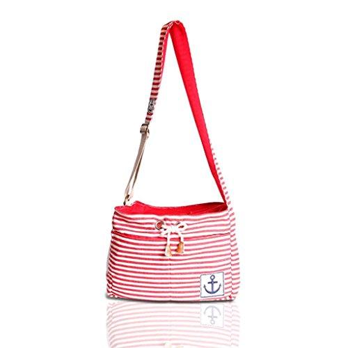 Lovely summer Fashion Stripe Pet Dog Cat Puppy Carrier Travel Shoulder Bag Dog Carrier Travel Sling Bag Small Dog Backpack Red