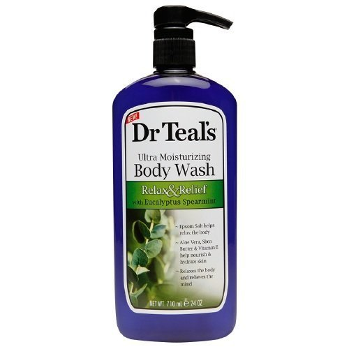 Dr Teal's Body Wash, Relax & Relief with Eucalyptus & Spearmint 24 oz (Pack of 2) by Dr Teal's