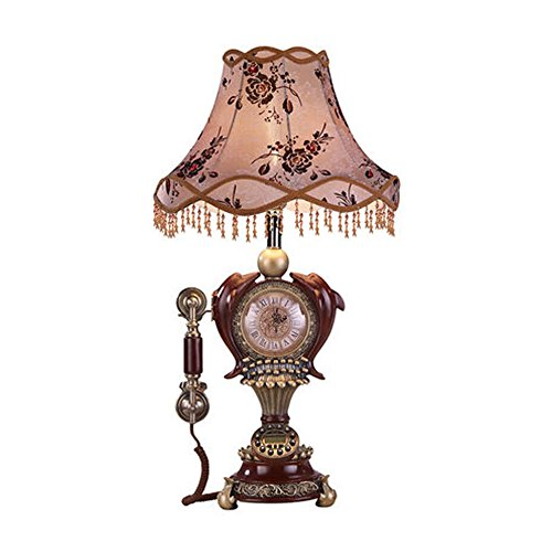 LICCC Table Lamp Artist Living Telephone Clock Lighting Retro Telephone Classical - Desk 20th Century Lamp