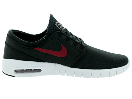 Nike Stefan Janoski Max Mens Sneakers Gym Rosso / Nero-bianco