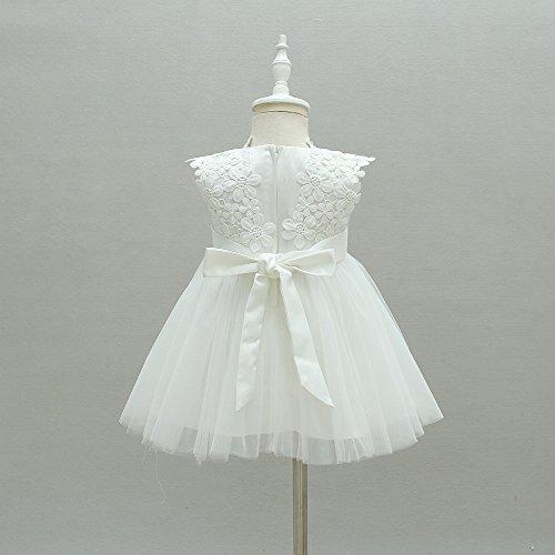flor de Blanco de vestido de Vestido de niña bautizos de niña niña bautizo ZAMME q574OP
