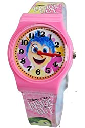 """Disney/Pixar Inside Out """"Joy"""" Watch for Kids. Large Analog Display For Easy Reading And Learning Time."""
