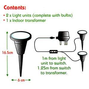 Indoor House Pot Plant Uplighters/Spot Lights x2: Amazon.co.uk ...