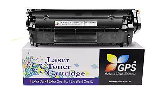 GPS Colour Your Dreams Colour Your Deams 12A / Q2612A Compatible Toner CartridgeFor Printers 1010 1012 1015 1018 1020 1022 3015 3020 3030  1pk   Black