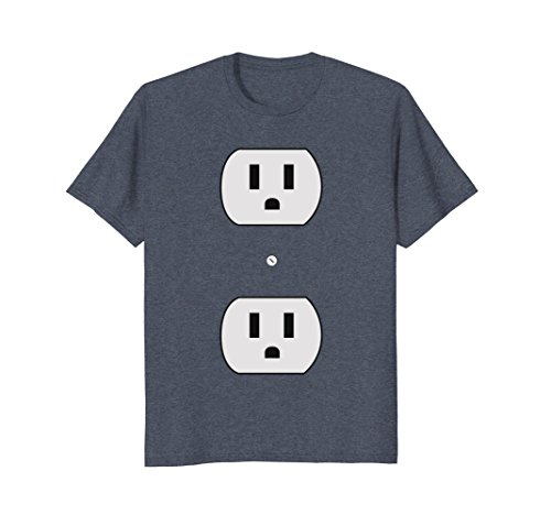 Mens Super Simple Easy Halloween Costume - Electrical Outlet Plug 3XL Heather (Last Minute Group Costume Ideas)