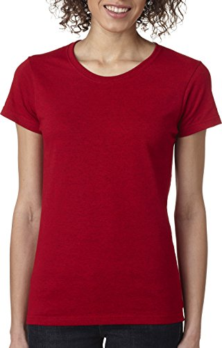 Gildan Heavy Cotton Ladies' T-Shirt, Antique Cherry Red, Small - Small Red Cherry