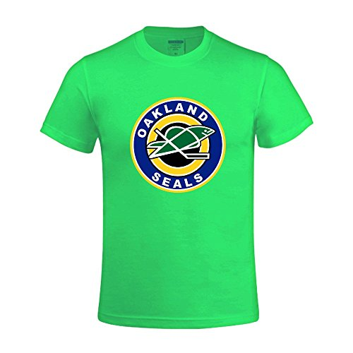 nhl-oakland-seals-mens-o-neck-personal-tee-shirt-green