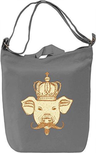 Royal pig Borsa Giornaliera Canvas Canvas Day Bag| 100% Premium Cotton Canvas| DTG Printing|