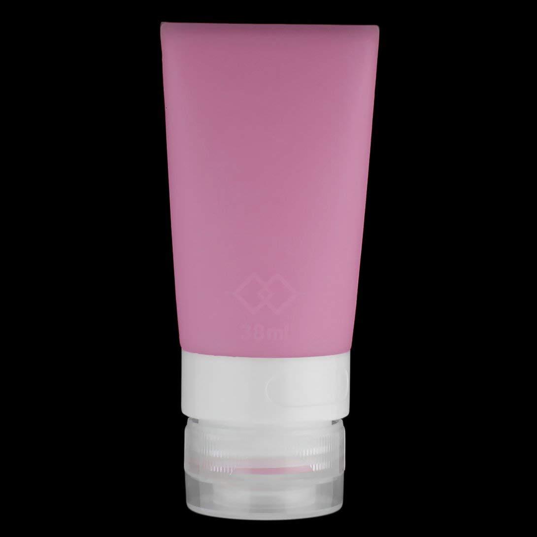 Swiftswan 38ml étanche bouteilles de voyage en silicone ensemble, accessoires de taille de voyage portable Squeezable bouteilles réutilisables shampooing, conditionneur, lotion, articles de toilette