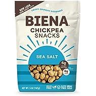 BIENA Chickpea Snacks, Sea Salt, 5 Ounce, 4 Count