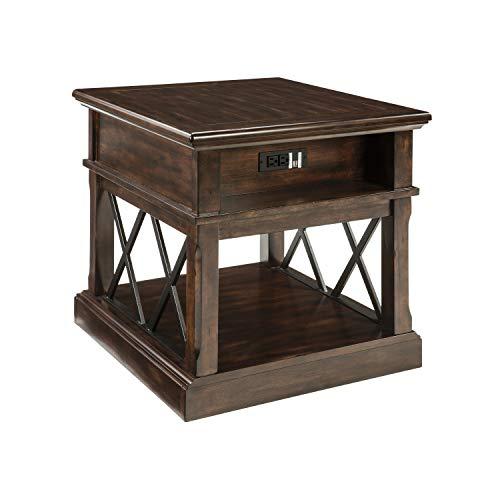Ashley Furniture Signature Design - Roddinton Rectangularside Table, Dark -