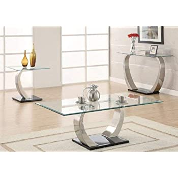 Shearwater Rectangular Coffee Table Silver and Clear