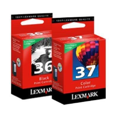 Lexmark No. 36/No. 37 Black And Color Return Program Ink Car