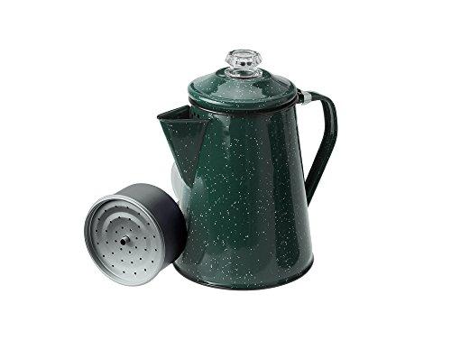 (GSI Outdoors 25255 Enamelware Percolator Coffee Pot, 12 Cup, Green)