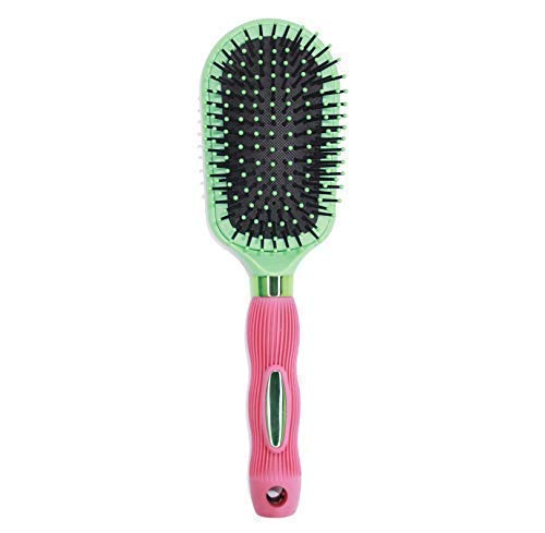 - Oval Cushion Hair Brush With Nylon Bristles For Smoothing, Straightening Extensions, Detangling & Styling For All Hair Types.(Flower Designed)