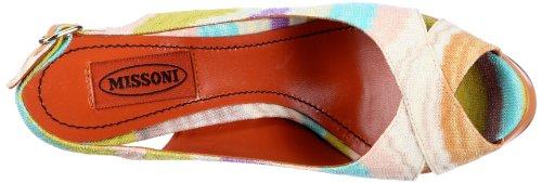 Missoni SANDALO INCROCIATO T.130 TM05A - Sandalias de tela para mujer Turquesa