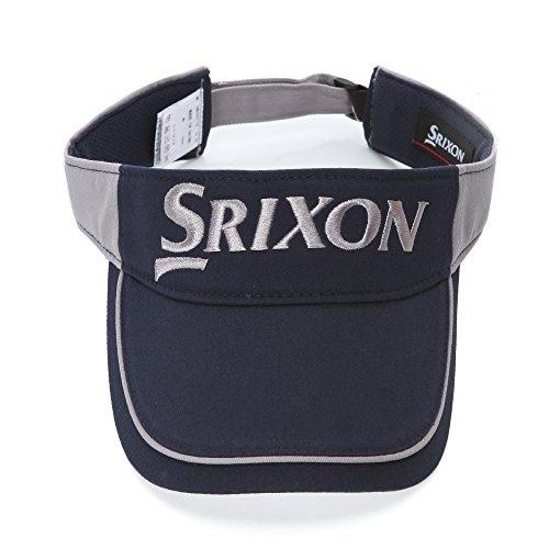 [SRIXON] Visor 6511 NavyGray ダンロップ スリッソン ゴルフ 帽子 メッシュ バイザー フリーサイズ ネイビーグレイ [並行輸入品]