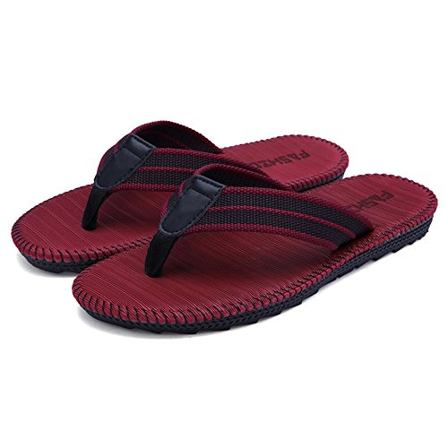 Couples/Families Flip-folps Happy Lily Non-slip EVA Rubber Double Sole Shoes Pool Shoes Sole Cotton Rattan Uppers Y-style... B01IIS1ODC Shoes 64d9a3