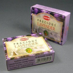 Lavender Incense Cones - HEM Lavender Incense Dhoop Cones, Pair of 10 Cone Boxes - (IN195)