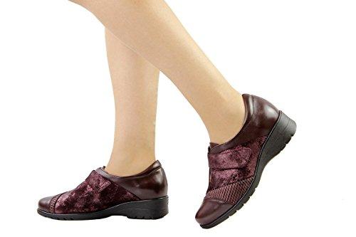 Viola Donna Scarpe Piesanto 175956 Comfort Pelle Velcro Speciale Larghezza qPnBA7B8x