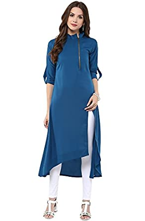 Janasya Women's Princess Cut Kurta