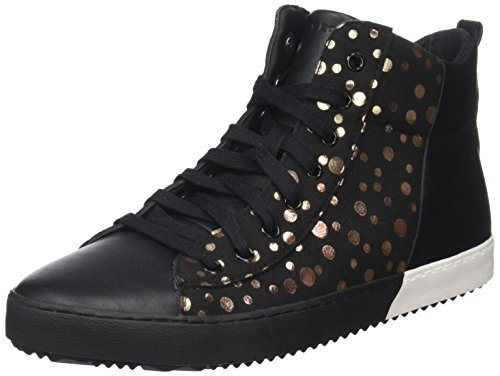 Geox Girls' Kalispera 4 Sneaker, Black/Gold, 41 M EU Big Kid (7 US) by Geox