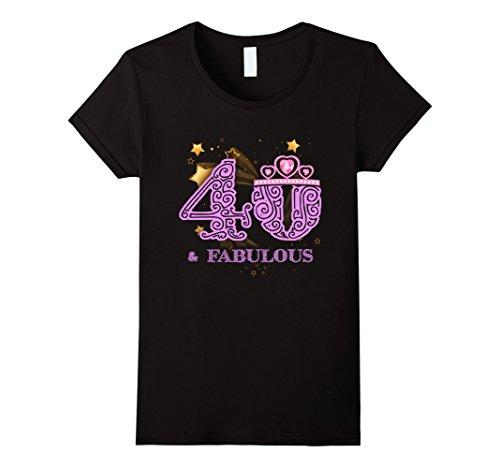 Fabulous 40th Birthday Gift T Shirt product image