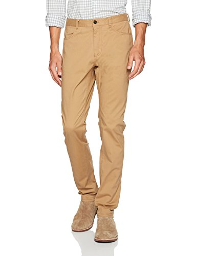 Michael Bastian Men's Stretch Cotton 5 Pocket Pant, British Khaki 32 from Michael Bastian
