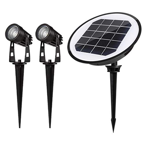ECOWHO Solar Landscape Lights, Waterproof Solar Powered LED Landscape Lighting Spotlights Garden Lights for Patio Yard Driveway Pathway (Warm White) (Solar Landscape Lights)