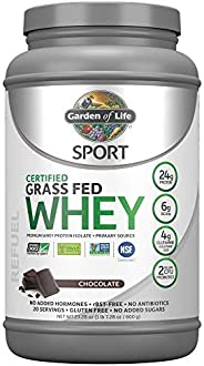 Garden of Life Sport Certified Grass Fed Clean Whey Protein Isolate, Chocolate, 23.28 oz (1 lb 7.28 oz / 660g)