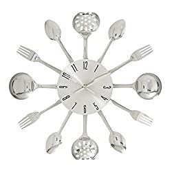 Deco 79 66985 Fabulous Metal Kitchen Wall Clock, 15 D