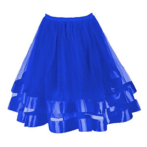 Blue 2 Satin Skirt - 4