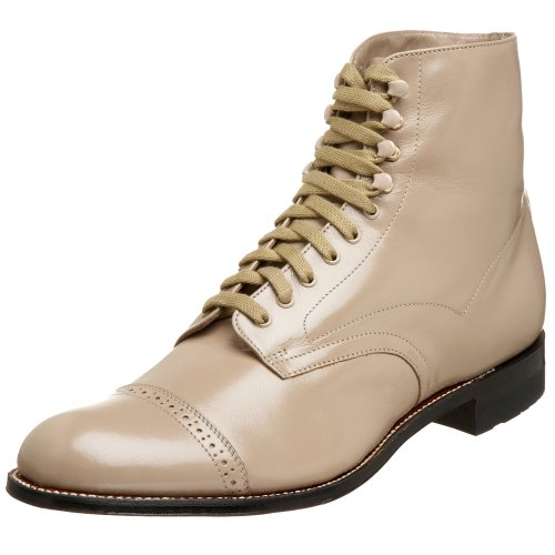 (Stacy Adams Men's Madison Cap-Toe Boot,Taupe,11 D)