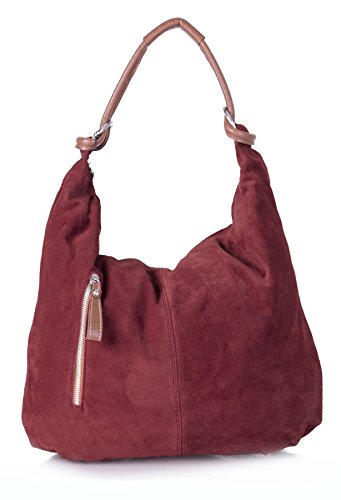 Borsa Big Deep Tote Morbida Da Scamosciata Spalla Bag Red hobo Handbag ll721 Shop Vera Donna Pelle A In HEqxWrSE
