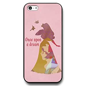 Diy iPhone 6 plus Customized Disney Cartoon sleeping beauty Black Hard Plastic Case for Apple iPhone 6 plus