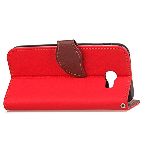 Samsung Galaxy A5 2017 Case EMAXELER Stylish Wallet Case Kickstand Flip Case Credit Cards Slot Cash Pockets PU Leather Flip Wallet Case Stand For ...