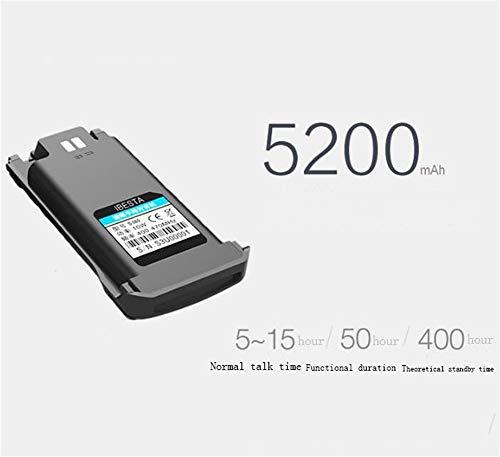 HDJ Walkie Talkies,High Power 50 Km Waterproof Handheld Engineering Property Walkie (Black, 1 Pair) by HDJ (Image #1)