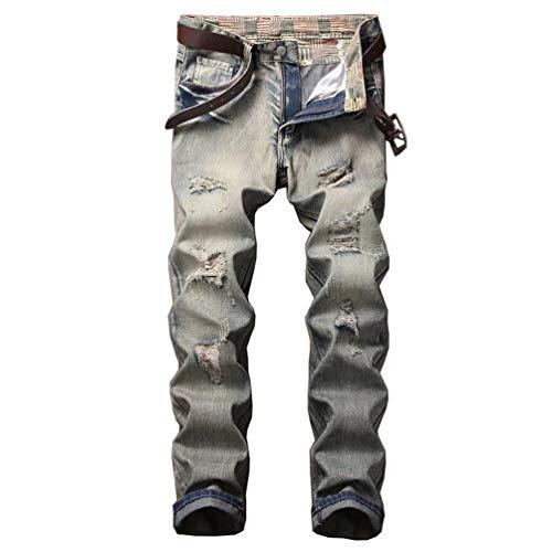 Strappati Estilo Slim R Colour Con Uomo Patch Skinny Especial Bobo Casual Jeans 88 Used Vintage Aderenti Affusati Look Vecchio Effetto 2018 44v1qnY