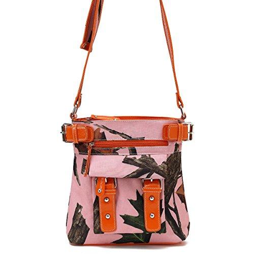 Pink Camouflage Messenger Bag - 1