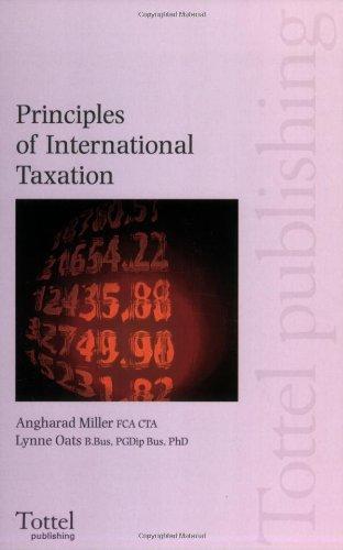 Principles of InternationalTaxation