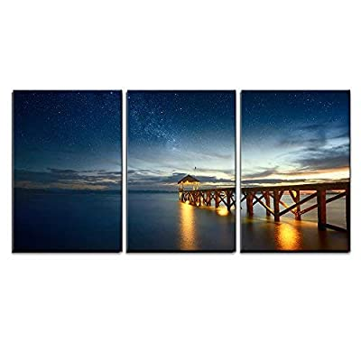 Seascape with Stars in The Sky Wall Decor...