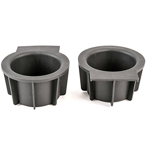 (Pair Front Center Console Cup Holder Rubber Insert Compatible with Ford Lincoln Expedition 2003-2006, Mark LT 2006-2008, Navigator 2003-2006, F150 2004-2008)